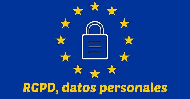 Datos personales en la RGPD